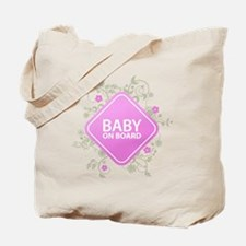 Baby on Board - Girl Tote Bag
