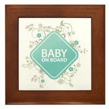 Baby on Board - Boy Framed Tile