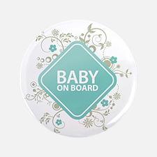 "Baby on Board - Boy 3.5"" Button"