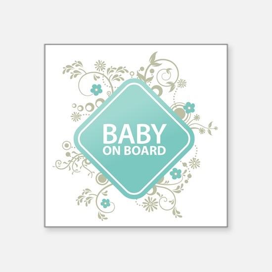 "Baby on Board - Boy Square Sticker 3"" x 3"""