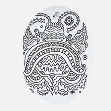 Doodle #36 Oval Ornament