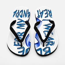 I Wear Blue for my Great Grandpa Flip Flops