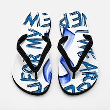 I Wear Blue for my Nephew Flip Flops