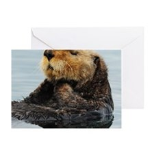 Tote7x7_Otter_3 Greeting Card