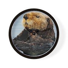 Tote7x7_Otter_3 Wall Clock