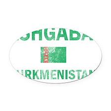 Ashgabat Turkmenistan Designs Oval Car Magnet
