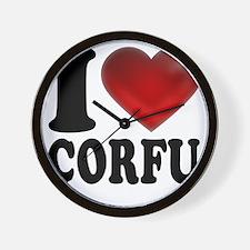 I Heart Corfu Wall Clock