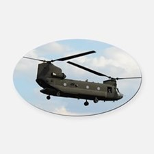 Tote7x7_Chinook_4 Oval Car Magnet