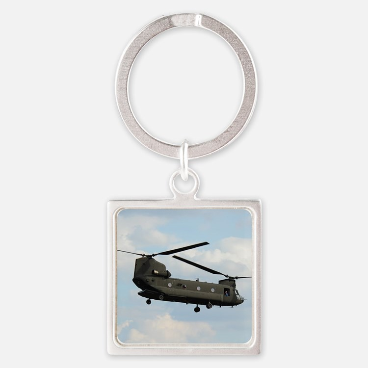 Tote7x7_Chinook_4 Square Keychain