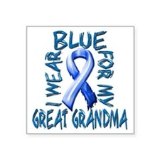 """I Wear Blue for my Great Gr Square Sticker 3"""" x 3"""""""