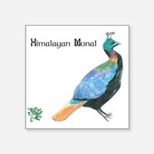 "Himalayan Monal Square Sticker 3"" x 3"""