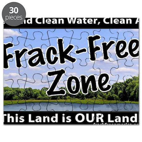 Frackfree Zone yard sign Puzzle