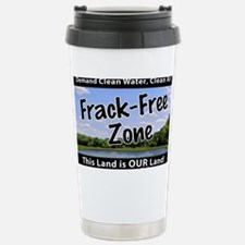 Frackfree Zone yard sign Travel Mug
