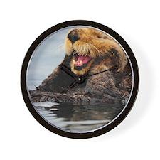 Tote7x7_Otter_2 Wall Clock