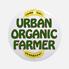 Urban Organic Farmer  Round Ornament