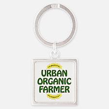 Urban Organic Farmer  Square Keychain