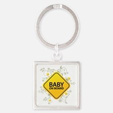 Baby on Board - Baby Square Keychain