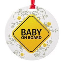 Baby on Board - Baby Ornament