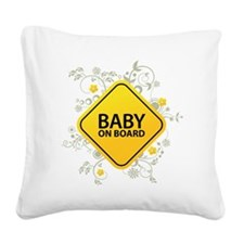 Baby on Board - Baby Square Canvas Pillow