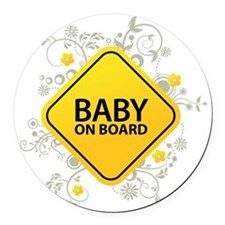 Baby on Board - Baby Round Car Magnet