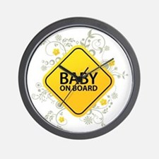 Baby on Board - Baby Wall Clock