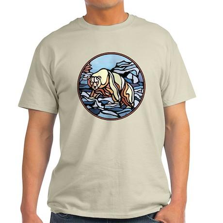 Polar Bear Art Light T-Shirt Native Bear Art Shirt