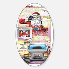 SANTA CLAUSE LANE Sticker (Oval)