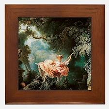 Jean-Honoré Fragonard The Swing Framed Tile