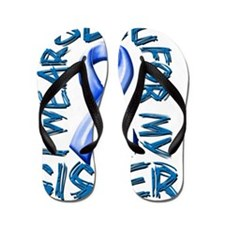 I Wear Blue for my Sister Flip Flops
