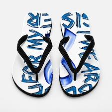 I Wear Blue for my Sister Flip Flops