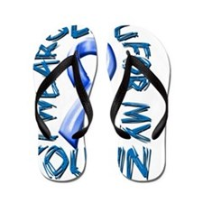 I Wear Blue for my Cousin Flip Flops
