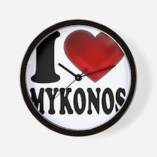 I Heat Mykonos Wall Clock
