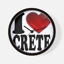 I Heart Crete Wall Clock