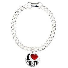 I Heart Crete Charm Bracelet, One Charm
