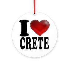 I Heart Crete Round Ornament