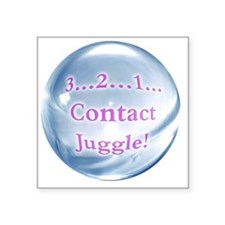 "Contact Juggle Square Sticker 3"" x 3"""