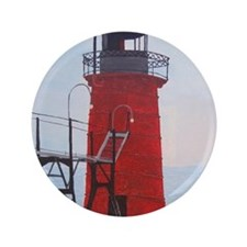 "South Haven Lighthouse 3.5"" Button"