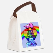 Gay Pride Budgies Canvas Lunch Bag