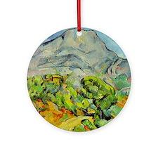 Mont Sainte-Victoire Round Ornament