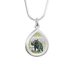 North Borneo Sumatran Rh Silver Teardrop Necklace