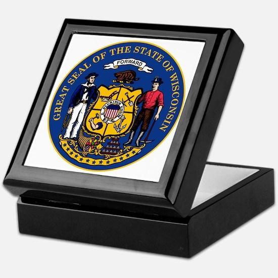 Wisconsin State Seal Keepsake Box