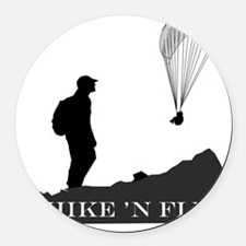 Hike 'N Fly Round Car Magnet