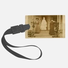Vintage Halloween Photograph Wit Luggage Tag