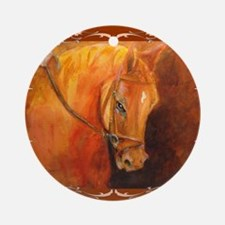 Hanoverian Stallion Round Ornament