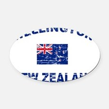 Wellington New Zealand Designs Oval Car Magnet
