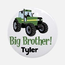 Big Brother Tractor Shirt - Tyler Round Ornament
