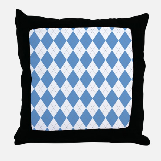 Carolina Blue Argyle Sock Pattern Nor Throw Pillow