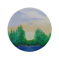 "Sunrise at the Lake 3.5"" Button"