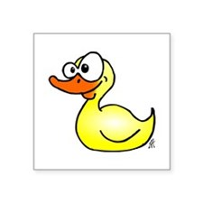 "Rubber duck Square Sticker 3"" x 3"""
