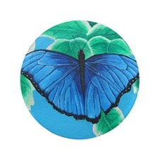 "Blue Morpho 3.5"" Button"